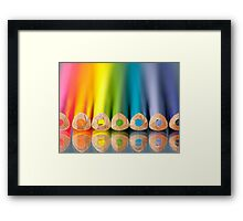 Crayonbow Framed Print