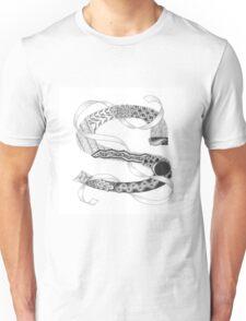 Zentangle®-Inspired Art - Tangled Alphabet - S Unisex T-Shirt
