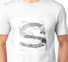 Zentangle®-Inspired Art - Tangled Alphabet - S Unisex T-Shirt