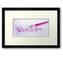 pink for life Framed Print