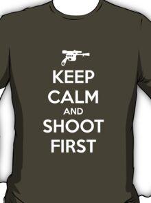 KEEP CALM - Han Shot First T-Shirt