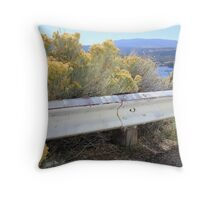 Aflame with Yellow Throw Pillow