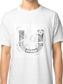 Zentangle®-Inspired Art - Tangled Alphabet - U Classic T-Shirt