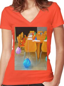 Coming to the Party Women's Fitted V-Neck T-Shirt