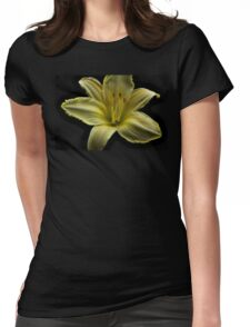 Yellow Cool It Daylily HDR Womens Fitted T-Shirt