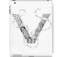 Zentangle®-Inspired Art - Tangled Alphabet - V iPad Case/Skin