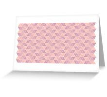 Triangles X3 Greeting Card