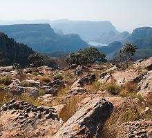 Hazy View on Blyde River Canyon by Rob Schoon