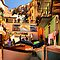 Streets of Manarola by Barbara  Brown