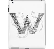 Zentangle®-Inspired Art - Tangled Alphabet - W iPad Case/Skin