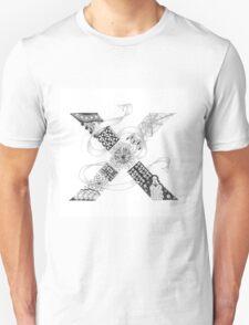 Zentangle®-Inspired Art - Tangled Alphabet - X T-Shirt