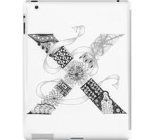 Zentangle®-Inspired Art - Tangled Alphabet - X iPad Case/Skin