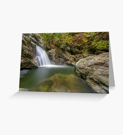 Bingham Falls - Wide View - HDR Greeting Card