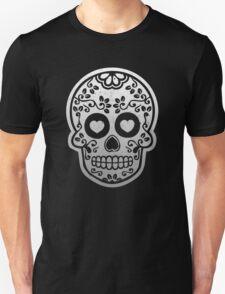 Sugar Skulls Pattern // Goth Punk Skulls Pattern Mexican Sugar Skulls Unisex T-Shirt