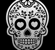 Sugar Skulls Pattern // Goth Punk Skulls Pattern Mexican Sugar Skulls by hocapontas