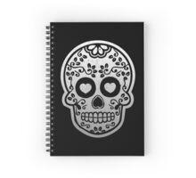 Sugar Skulls Pattern // Goth Punk Skulls Pattern Mexican Sugar Skulls Spiral Notebook