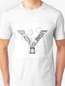 Zentangle®-Inspired Art - Tangled Alphabet - Y T-Shirt