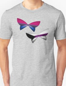 Bi Demisexual Pride Butterflies T-Shirt