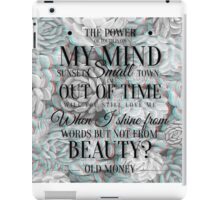 old money iPad Case/Skin