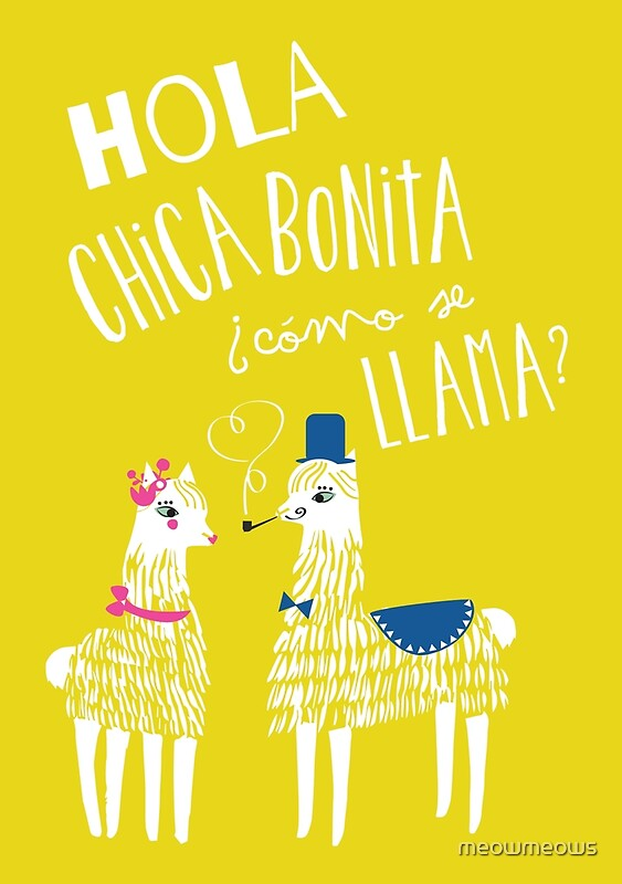 u0026quot hola chica bonita poster u0026quot  posters by meowmeows