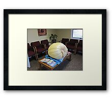 Prize Winner!!...How Much Do I Weigh??(222 lbs!!) Framed Print