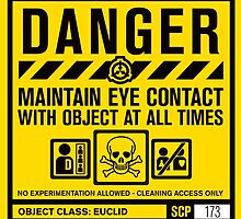 SCP 173 Warning Sign by narshero
