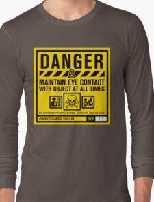 SCP 173 Warning Sign Long Sleeve T-Shirt