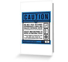 SCP 093 Warning Sign Greeting Card