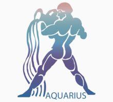 Colorful Zodiac sign - Aquarius  by Smaragdas