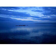 Foggy Blue Sunset Photographic Print