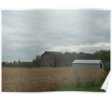 Barn in a Field Poster