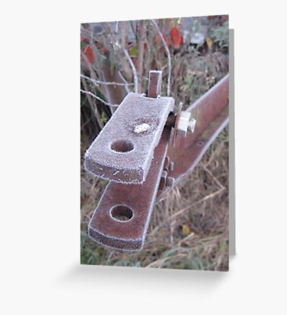 Frosted Rusty Equipment Greeting Card