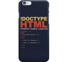 WEB HTML iPhone Case/Skin