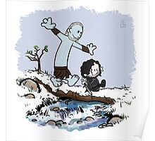 Calvin and Hobbes Beyond the Wall Poster