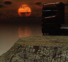 Truckers Sundown in Portugal. by alaskaman53