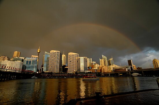 Rainbow Over Sydney, Australia by muz2142