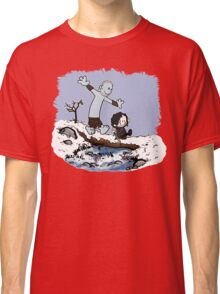 Calvin and Hobbes Beyond the Wall Classic T-Shirt