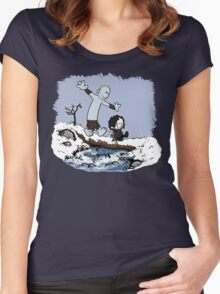 Calvin and Hobbes Beyond the Wall Women's Fitted Scoop T-Shirt