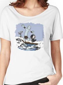 Calvin and Hobbes Beyond the Wall Women's Relaxed Fit T-Shirt