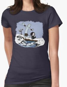 Calvin and Hobbes Beyond the Wall Womens Fitted T-Shirt