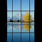 Moran Reflected, Jackson Lake Lodge by A.M. Ruttle