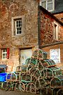 Lobster Pots at Crail by Christine Smith