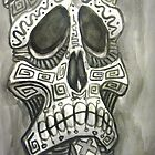 skull tiki sketch by rawjawbone