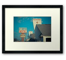 20th Century Motel Framed Print