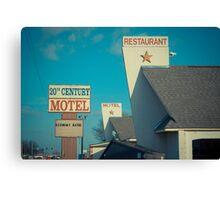 20th Century Motel Canvas Print