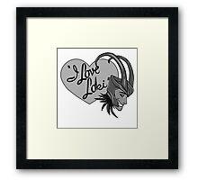 I Love Loki Framed Print