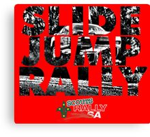 Slide Jump Rally - Red Canvas Print
