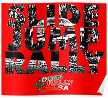 Slide Jump Rally - Red Poster