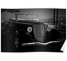 Classic Car on banks of Mississippi River Poster