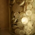 Vintage Button Jar by JRoseStudio